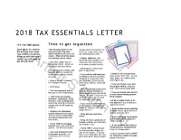 2018 Tax Essentials Letter